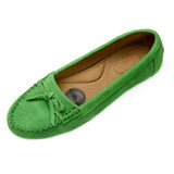 Pluggz Juno Driving Moc-Apple Green Suede