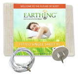 Earthing Single KING Fitted Sheet Kit