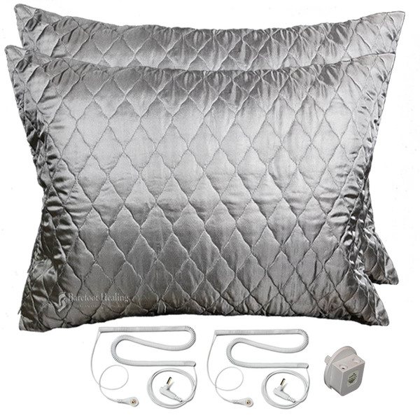 Earthing Silver Pillow Covers For Two