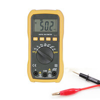 Multimeter with alligator clip